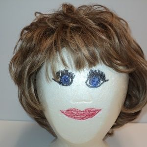 Midway Dena Cali Wig Golden Brown Average 22""
